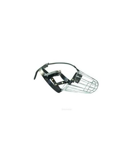 Kaganiec metalowy regulowany. Długość kufy około 12cm szerokość pyska około 35cm. PRODUKT POLSKI.