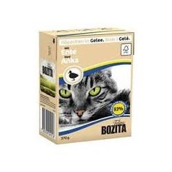 BOZITA karma mokra dla kota z kaczką w galaretce. 370g. Pakowana w kartonik.  92% mięsa.