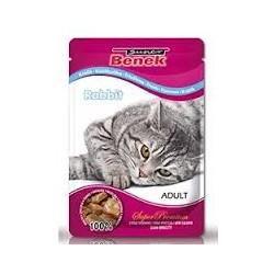 Saszetka dla kota BENEK -Pełnowartościowa karma dla dorosłych kotów z królikiem 100g.
