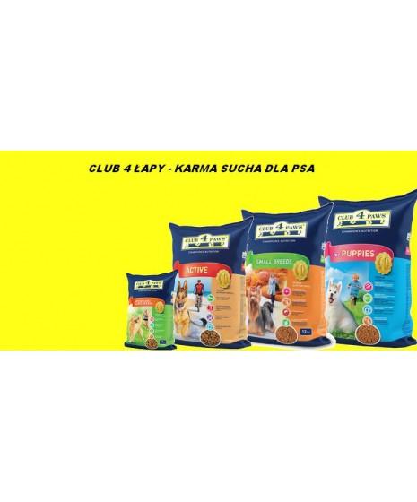 CLUB 4 ŁAPY - karma sucha dla psa. Duża zawartość mięsa i produktów mięsnych.