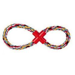 Zabawka LINA do przeciągania ósemka sznurowa. Dla psa. 100% bawełny. Z plastikowym krzyżakiem. TRIXIE.