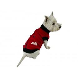 Golf dla psa z polaru. PRODUKT POLSKI. Różne rozmiary. Długość od 28cm do 47cm. Kolor czerwony.