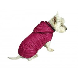 Płaszczyk pikowany z kapturem dla psa. Różne rozmiary. Długość od 28cm do 40cm. Kolor różowy.