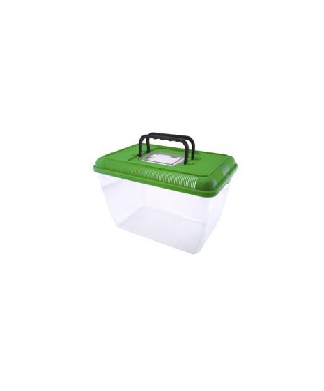 """Transporter wykonany z plastiku """"3"""". Może służyć jako terrarium."""