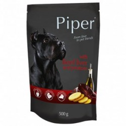 Dolina Noteci PREMIUM PIPER - karma mokra z wątrobą wołową i ziemniakami w saszetce 500g. Dla psów wszystkich ras.
