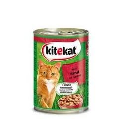 Kitekat mokra karma w puszce dla kota. Z wołowiną. 400g.