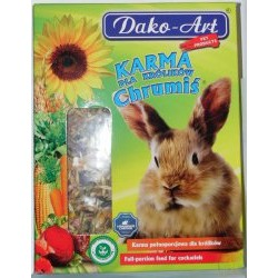Królik - karma pełnoporcjowa Chrumiś DAKO-ART-  Waga: 1000g.