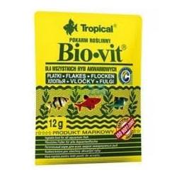 BIO-VIT roślinny podstawowy pokarm dla ryb w płatkach. 12g.