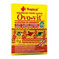 OVO-VIT wieloskładnikowy pokarm dla ryb w płatkach. 12g. Z dodatkiem żółtek jaj.