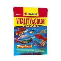 VITALITY&COLOR - wybarwiający, wysokobiałkowy pokarm płatkowany dla ryb. 12g.
