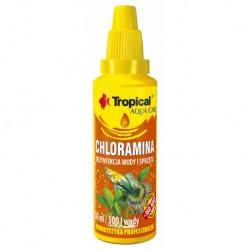 CHLORAMINA Tropical - dezynfekcja wyposażenia do akwarium np. siatki, filtry, akwarium. 30ml.