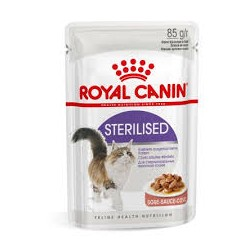 Saszetka dla kota ROYAL CANIN STERYLISED - karma dla kota, która zapobiega przybieraniu na wadze po kastracji. 85g