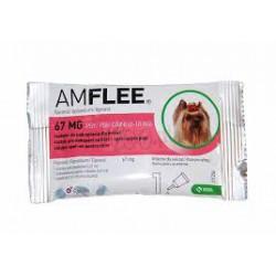 Krople przeciw pchłom i kleszczom AMFLEE dla psów o wadze 2-10 kg .