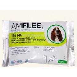 Krople przeciw pchłom i kleszczom AMFLEE dla psów o wadze 10-20 kg