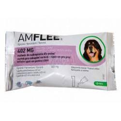 Krople przeciw pchłom i kleszczom AMFLEE dla psów o wadze powyżej 40 kg .