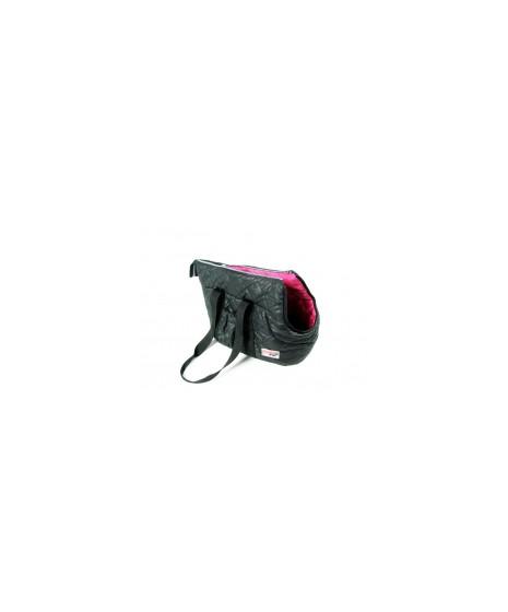 Torba transporterowa czarna pikowana dla psa .Długość 42cm, szerokość 23cm, wysokość 28cm.