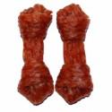 Przysmak kość dentystyczna z mięsem z kaczki. Dla psa. Wyśmienita przekąska.