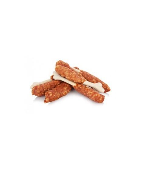 Kość z kurczakiem i ryżem. Przysmak dla pieska.