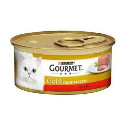 Gourmet Gold puszeczka dla kota 85g w musie - mokra karma z wołowiną. Super jakość, super smak.