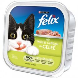 Puszka dla kota FELIX 100g z dziczyzną i drobiem - mokra karma w galaretce.