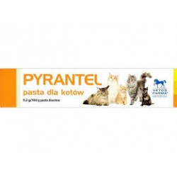 PYRANTEL- pasta na odrobaczenie dla kotów. Tubka 100g.