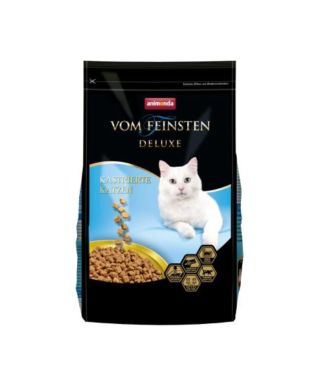Animonda Deluxe dla kotów kastrowanych. Zdrowy układ moczowy, redukcja kłaczków, kotrola wagi.