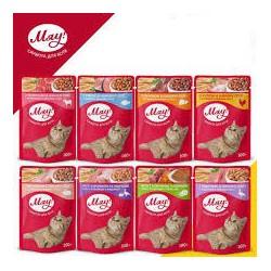 Saszetka dla kota MIAU 100g - Mokra karma smaczny gulasz. 80g.