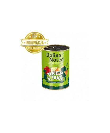 Dolina Noteci Premium SUPERFOOD - karma dla psów dorosłych jeleń+kaczka. 400g