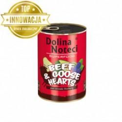Dolina Noteci Premium SUPERFOOD - karma dla psów dorosłych wołowina+serca gęsi. 400g