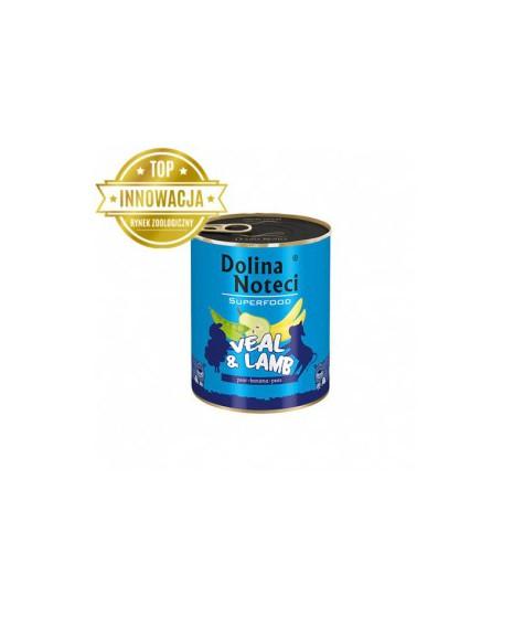 Dolina Noteci Premium SUPERFOOD - karma dla psów dorosłych cielęcina+jagnięcina400g