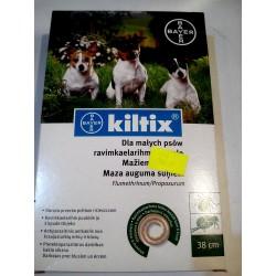 BAYER - Obroża przeciw pchłom i kleszczom KILTIX dla małych psów. 38cm.