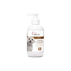 Szampon OVER ZOO dla psów -  dla jasnej i białej sierści. Pięknie pachnie.