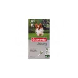 Bayer ADVANTIX krople przeciw pchłom i kleszczom dla psów o masie ciała do 4kg. 0,4ml.