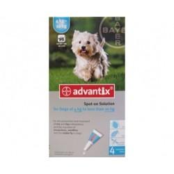 Bayer ADVANTIX krople przeciw pchłom i kleszczom dla psów o masie ciała od 4kg do 10kg. 1ml.