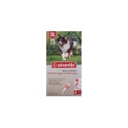 Bayer ADVANTIX krople przeciw pchłom i kleszczom dla psów o masie ciała od 10 do 25kg. 2,5ml.