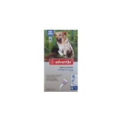 Bayer ADVANTIX krople przeciw pchłom i kleszczom dla psów o masie ciała od 25-40kg. 4ml.