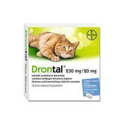 Tabletki na odrobaczenie dla kota DRONTAL.