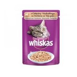 Saszetka dla kota WHISKAS 100g z cielęciną - mokra karma.
