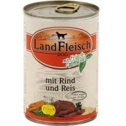 Puszka dla kota 400g LANDFLEISCH - mokra karma z wołowiną dla dorosłych kotów.