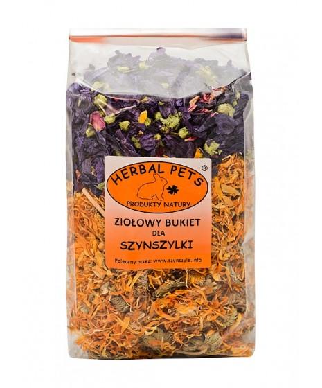 Szynszyla ziołowy bukiet HERBAL PETS 150g. Pyszna, zdrowa i naturalna przekąska.