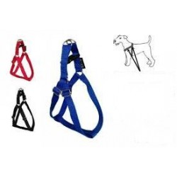 Szelki dla psa z taśmy na górny zatrzask, regulowane, długość 40cm szerokość 13mm.