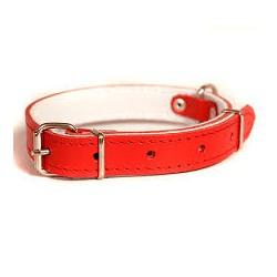 Obroża ze skóry podszyta filcem dla psa. Produkt POLSKI. Szerokość 10mm długość 30cm.
