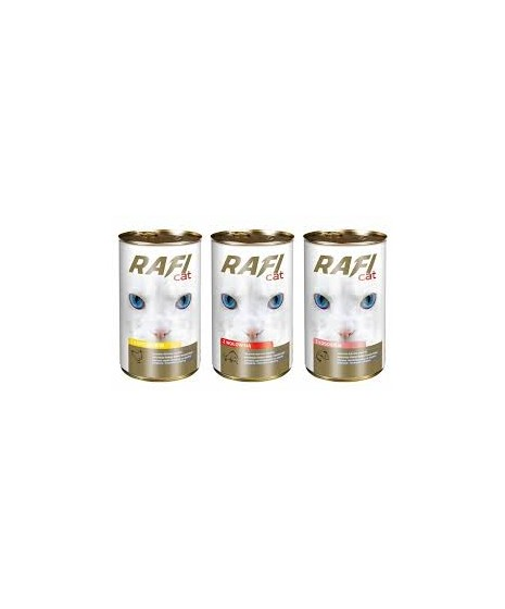 Puszka dla kota RAFI 415g z wołowiną. Dobra jakość w korzystnej cenie.