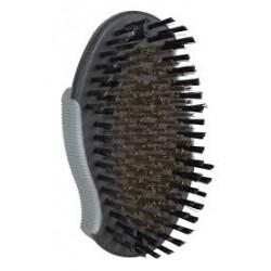 Szczotka z nylonowym włosiem i z włosiem z mosiądzu. TRIXIE. Wymiary 7x12cm.