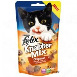 Felix Party Mix - chrupiące przysmaczki dla kota. Mixed Grill o smaku kurczaka, wątróbki i indyka.