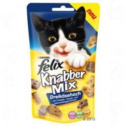 Felix Party Mix - chrupiące przysmaczki dla kota. Cheese Mix o smaku sera chedar, gouda i edam