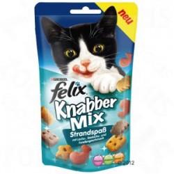 Felix Party Mix - chrupiące przysmaczki dla kota. Ocean Mix smakuje łososiem, czarniakiem i pstrągiem