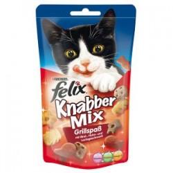 Felix Party Mix - chrupiące przysmaczki dla kota. O smaku wołowiny, kurczaka i łososia.