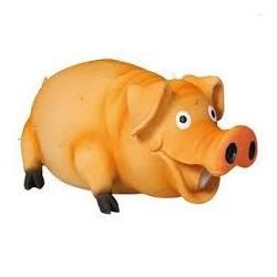 Zabawka świnka lateksowa dla pieska. Z piszczałką naśladującą chrumkanie. Długość 21cm.