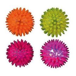 Zabawka piłka świecąca z kolcami dla psów małych. Średnica 5cm.